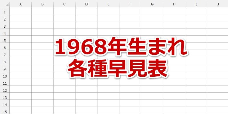 1968年(昭和43年)生まれの年齢/干支/星座/九星気学/誕生石/入学/卒業 ...