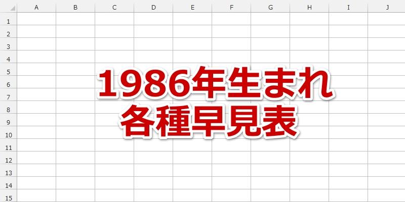 1986年(昭和61年)生まれの年齢/干支/星座/九星気学/誕生石/入学/卒業 ...