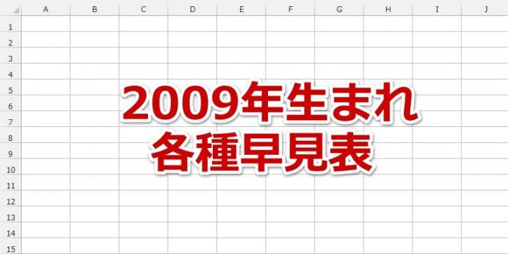 2009年 平成21年 生まれの年齢 干支 星座 九星気学 誕生石 入学 卒業